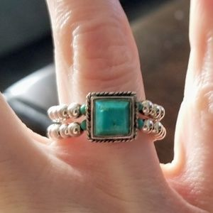Silpada turquoise stretch ring